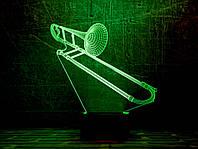 """Сменная пластина для 3D светильников """"Труба 3"""" 3DTOYSLAMP, фото 1"""