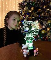 Ночник - светильник детский «LOL 3» 3DTOYSLAMP, фото 1