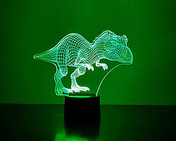 """3Д светильник """"Тираннозавр"""" 3DTOYSLAMP"""