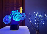 "3D светильник ""Мотоцикл 9"" 3D TOYSLAMP, фото 1"