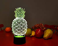 "3D ночник-светильник ""Ананас"" 3DTOYSLAMP, фото 1"