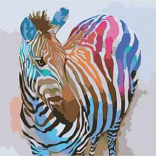 Картина по номерам Зебра поп-арт