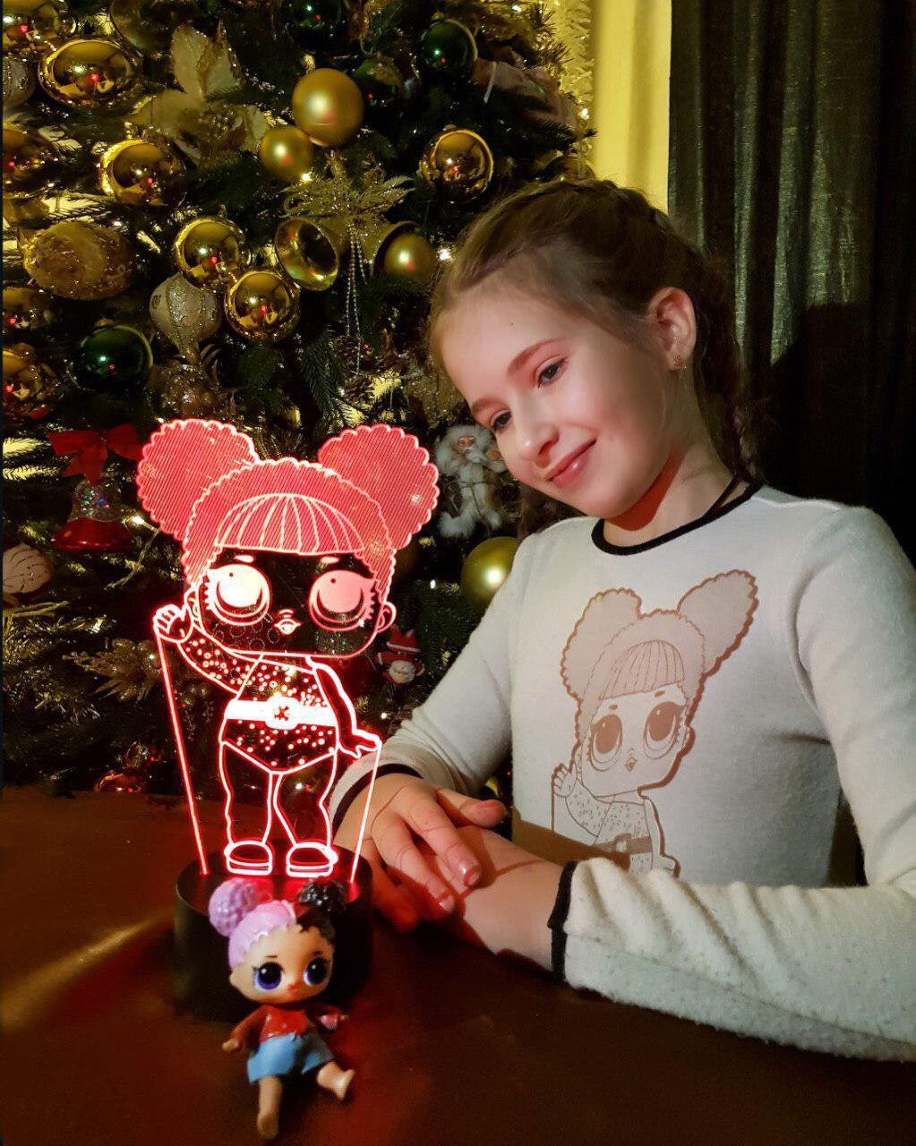 Детский ночник -светильник «LOL 2» 3DTOYSLAMP