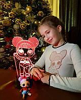 Детский ночник -светильник «LOL 2» 3DTOYSLAMP, фото 1