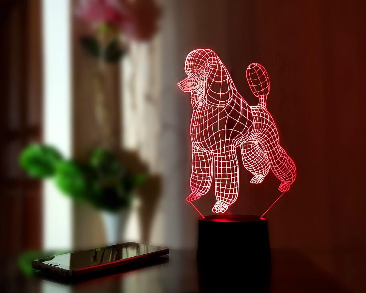 """3D светильник """"Пудель"""" 3DTOYSLAMP"""