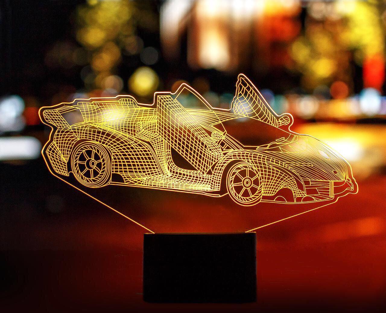 """Сменная пластина для 3D светильников """"Автомобиль 39"""" 3DTOYSLAMP"""
