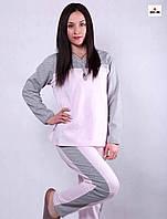 Пижама женская с начесом розовая 44-56 р., фото 1