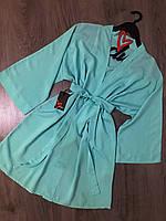 Хлопковый халат для дома 047, домашняя одежда летняя.