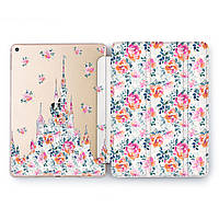 Чехол книжка, обложка для Apple iPad (Замок из цветов) модели Pro Air 9.7 10.5 11 12.9 mini 1 2 3 4 айпад про эйр 2017 2018 2019 case smart cover