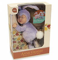 Кукла Анны Геддес (Anne Geddes) Зайка лиловый 23 см.