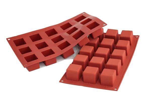 Силиконовая форма 25,5*15 см, Кубики
