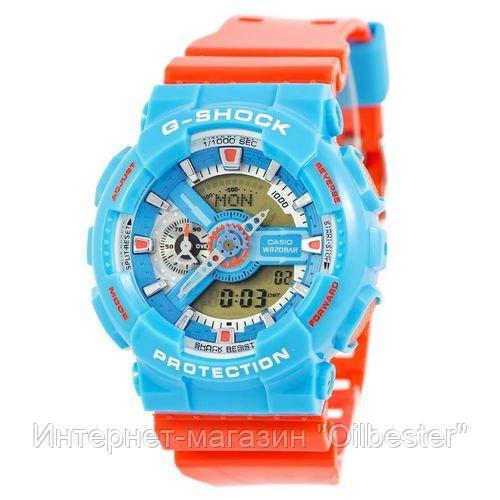 Часы Casio G-Shock AAA GA-110 Blue-Orange