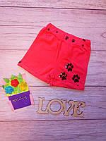Летние шорты для девочки с пайетками Лапки 4-8 лет