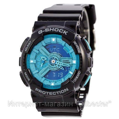 Часы Casio G-Shock AAA GA-110 Black-Light Blue