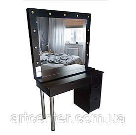 Черный стол для салона красоты, стол для парикмахера, визажиста