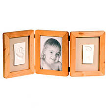 Рамочка для отпечатков и фото малыша Baby Art Double Print Frame natural