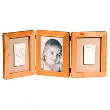 Рамочка для відбитків і фото малюка Baby Art Double Print Frame natural