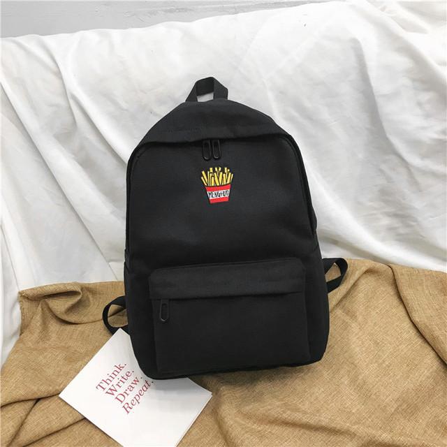Молодежный рюкзак черный