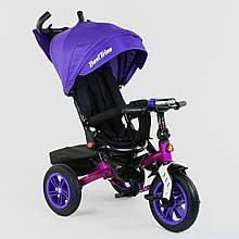Велосипед трехколесный для ребенка Best Trike с поворотным сиденьем 9500 - 3046 фиолетовый