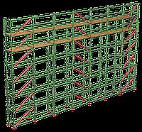 Аренда строительных лесов ригельного типа б/у