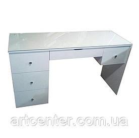 Белый столик с ящиками для визажиста, гримера