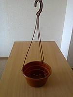 Горшок с подвесом (миска) d-21,h-10см, терракот (100шт/уп)