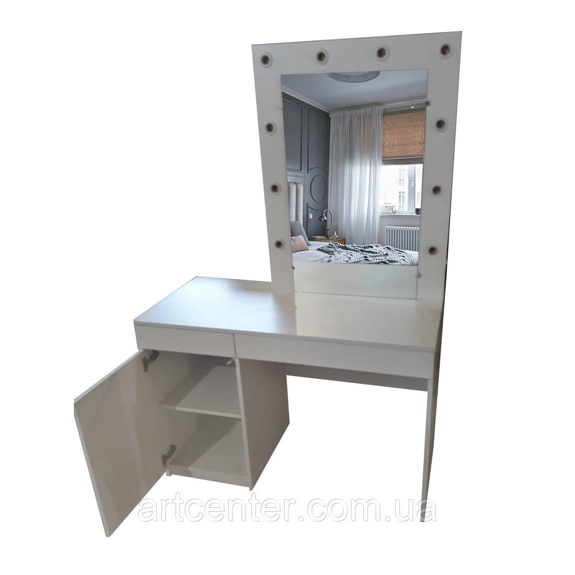 Гримерный стіл з дзеркалом та підсвічуванням для салону краси
