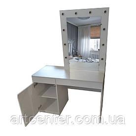 Гримерный стол с зеркалом и подсветкой для салона красоты