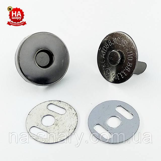 Кнопка магнитная блек никель