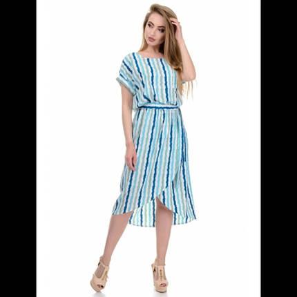 Платье, цвет полоса морская волна, фото 2