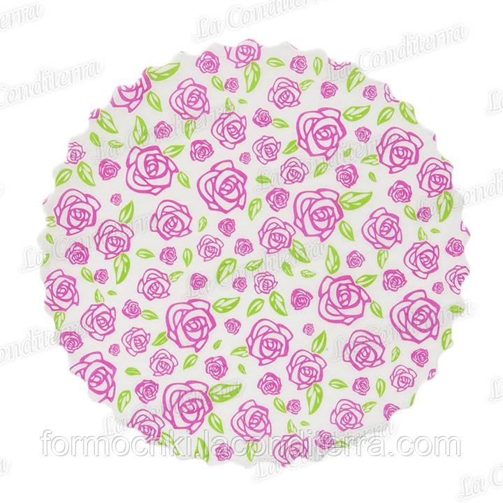 """Паперові серветки з печаткою """"Троянда"""" (d=230 мм), 500 шт."""