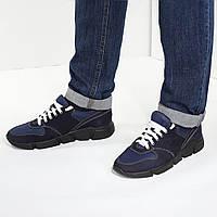 VM-Villomi Мужские синие кроссовки из нубука.