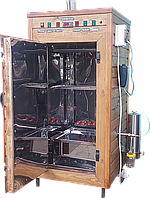 Электростатическая Коптильня 250л -холодного и горячего копчения, +просушка. Нержавейка внутри, крыша плоская