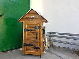 Электростатическая Коптильня 250л -холодного и горячего копчения, +просушка. Ольха внутри, крыша домиком