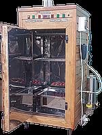 Коптильня 550 л -холодного та гарячого копчення, +просушування. Нержавіюча сталь всередині, дах плоский
