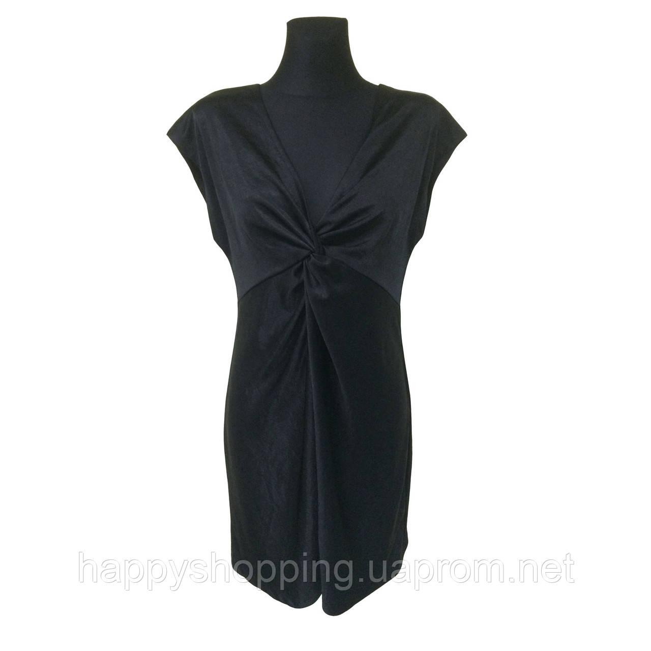 Черное платье H&M с декольте