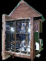 Коптильня 1300л -холодного и горячего копчения, +просушка. Нержавейка внутри, крыша домиком