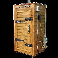 Электростатическая Коптильня 1300 л -холодного и горячего копчения, +просушка. Ольха внутри, крыша плоская