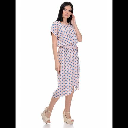 Платье, цвет горох голубой, фото 2