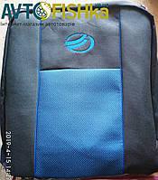 Чохли на сидіння авто / чехлы на сиденья 1103 Славута (Тернополь) с логотипом (синяя вставка)