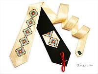 """Атласный галстук с вышивкой """"Закарпатье"""", фото 1"""