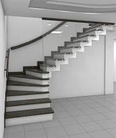Лестница на бетонном основании