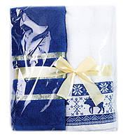 Набор полотенец HAPPY NEW YEAR 50х90 BLUE DEER Узбекистан