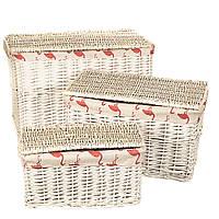 """Набор корзин для белья """"Фламинго"""", 3 шт, лоза, 40x56x50см"""