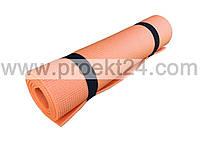 Коврик для фитнеса, спорта, танцев, туризма Naprolom М, оранжевый