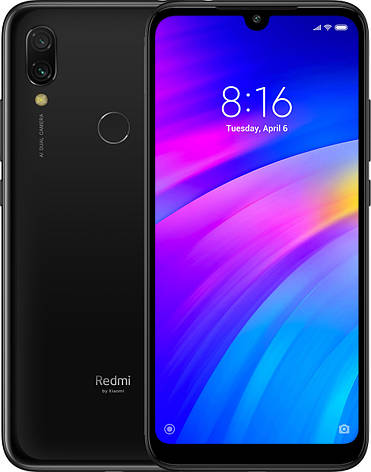 Смартфон Xiaomi Redmi - 7 3/64 Eclipse Black, фото 2