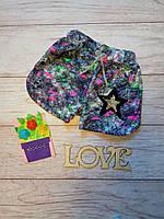 Летние шорты для девочки с пайетками Звезда 8-9 лет