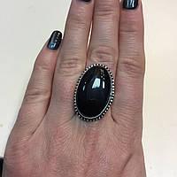Петерсит соколиный глаз кольцо с натуральным питерситом в серебре 18 размер Индия, фото 1