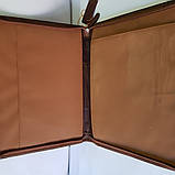 Папка для документов из натуральной кожи, фото 4