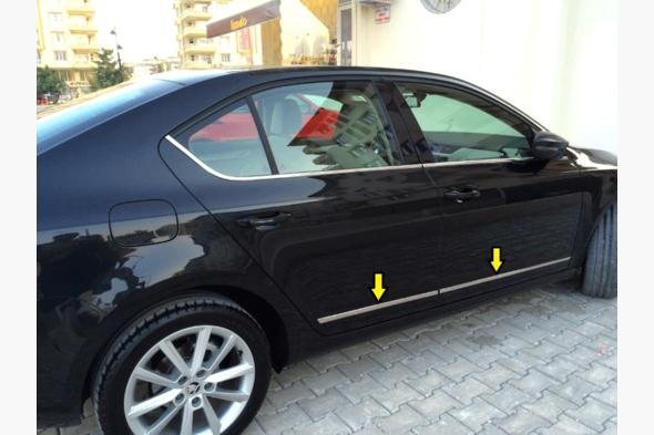 Хром накладки на дверной молдинг Skoda Octavia A7
